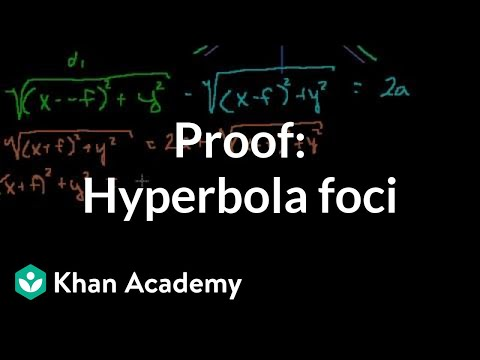 Proof: Hyperbola Foci