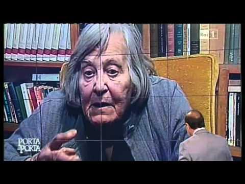 Margherita Hack sull'aldilà - Porta a Porta 20/04/2011