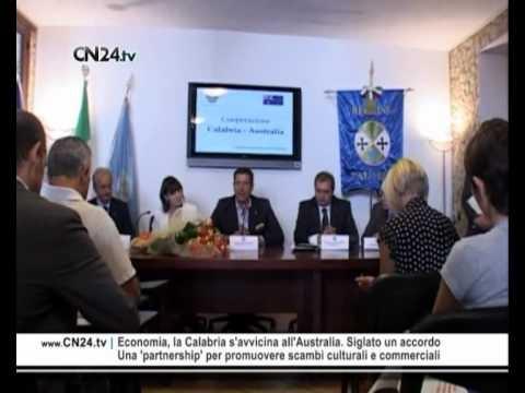 CN24 | Economia, la Calabria s'avvicina all'Australia. Siglato un accordo