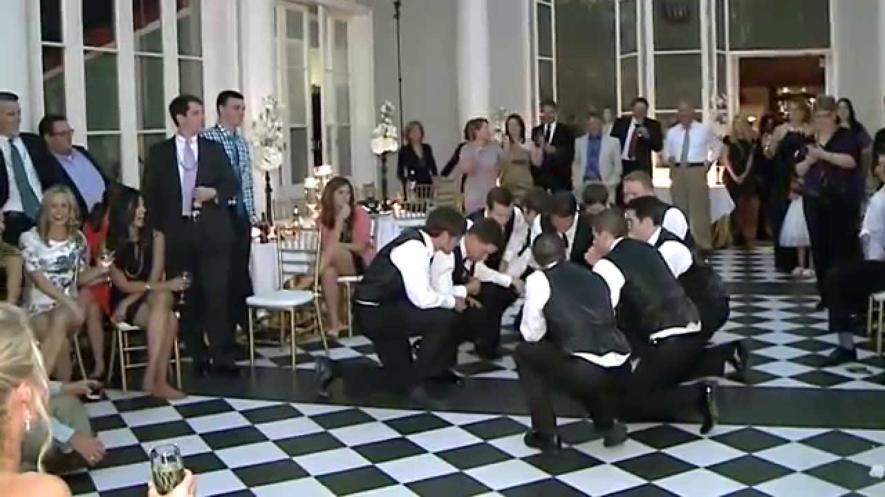 AWESOME! Wedding Groomsmen Dance — FUNNY!!!