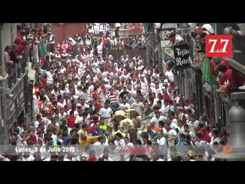 Encierro 9 de Julio 2012 - Cebada Gago