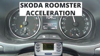 Skoda Roomster 1.2 TSI 105 KM - acceleration 0-100 km/h