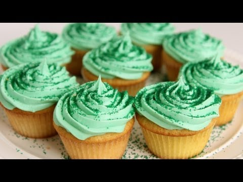 Shamrock Milkshake Cupcake Recipe - Laura Vitale - Laura in the Kitchen Episode 548