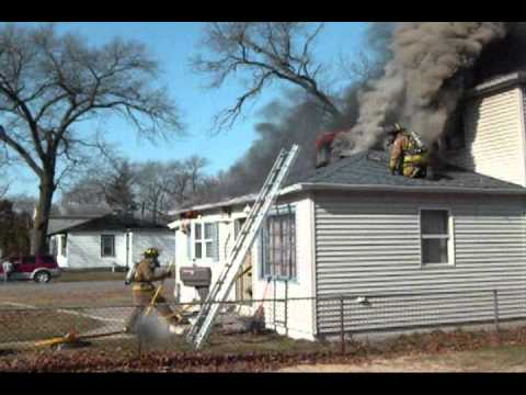 Flashover Or Backdraft Occurs While Crews Are Inside A Working House Fire In New Chicago