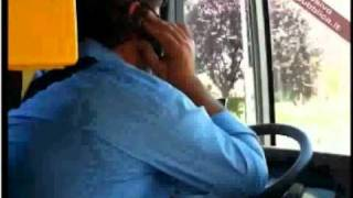 Italian bus driver with Mobile