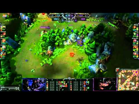 League of Legends IEM Hannover 2012 World Final Team Dignitas vs Moscow 5 Game 1