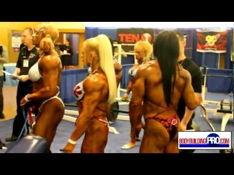 Female Bodybuilders Pump Room - 2013 Arnold