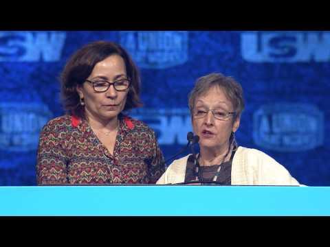 Pronunciamento da presidenta da CNQ na Conferência do USW em Las Vegas