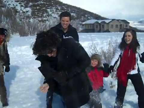 One Tree Hill - OTH Snow Fight in Utah Filming Season Finale - Pt.1