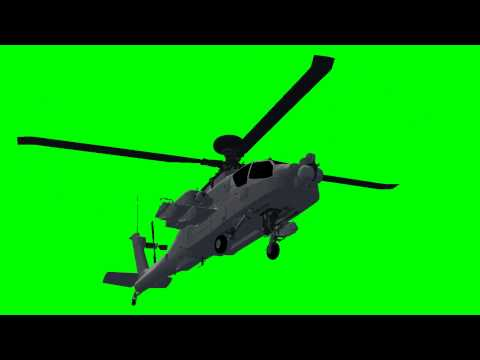 Apache AH-64D Longbow Helicopter - green screen effects -Hn_zcicwRFM