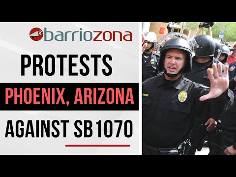 SB 1070 - Police Arrest Protesters in Arizona for Civil Disobedience