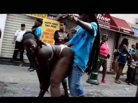 BIGGEST BOOTY SHAKE AT ST MAARTEN SXM CARNIVAL NO LIMIT BAND SURVIVOR DANCERS video judith roumou