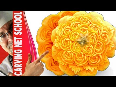 Pumpking carving - LESSON 05-CARVING NET SCHOOL - PUMPKIN CENTER PIECE