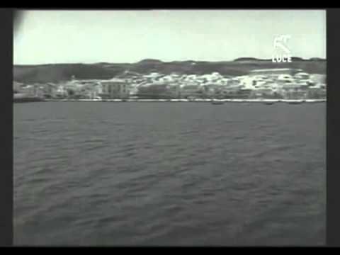 Sardegna - L'arrivo di Vittorio Gassman a Carloforte 1962