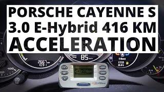 Porsche Cayenne S 3.0 V6 E-Hybrid 416 KM (AT) - przyspieszenie 0-100 km/h
