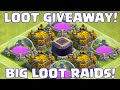 clash of clans farming big loot + big loot giveaway | january lootcrate unboxing