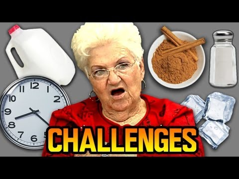 Elders React to Challenges! (Cinnamon, Salt & Ice, & Milk Chug)