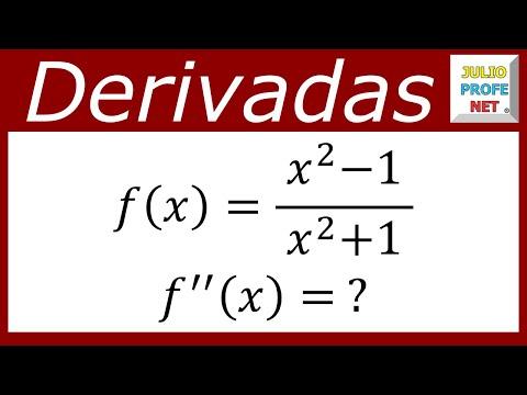 Segunda derivada de una función racional