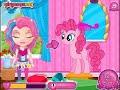 Фрагмент с средины видео - My Little Pony showers - Bathing Barbie Girls Games