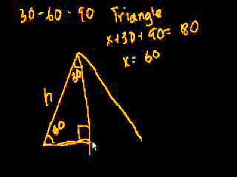 Introduzione ai Triangoli 30-60-90