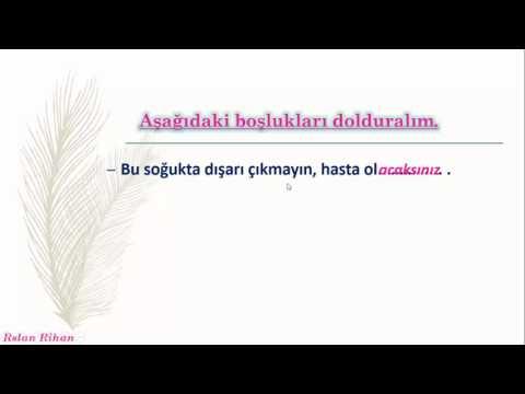 تعلم اللغة التركية (الدرس 8 من المستوى الثاني A2) (الزمن المستقبل)
