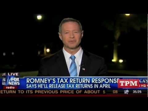 Fox News: Who Cares About Mitt Romney Tax Returns?