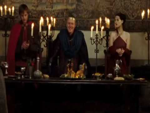 Merlin 1x01 - Arthur and Morgana scenes