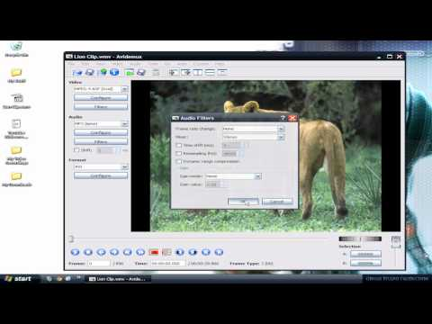 Avidemux Tutorial (How to crop down a video and make it HD Widescreen)