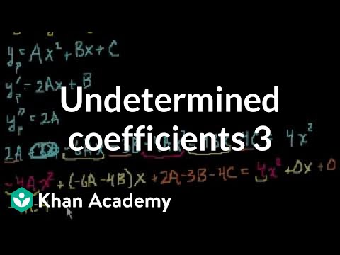 Undetermined Coefficients 3