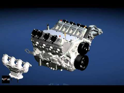 GM ZR1 Corvette V8 Engine Assembly LS9 and Car