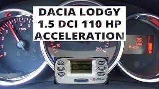 Dacia Lodgy 1.5 dCi 110 KM - acceleration 0-100 km/h