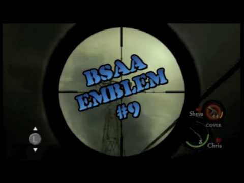Resident Evil 5 - Badge of Honor Achievement/Trophy (All 30 BSAA Emblems)