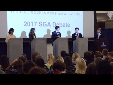 The Auburn SGA holds debates for the position of President for the 2017 year on Monday, Feb. 6, 2017 in Auburn, Ala.