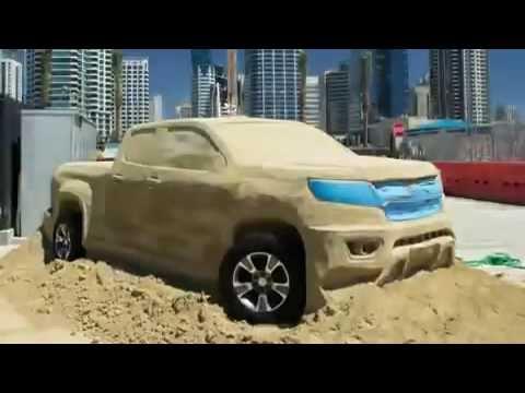 بالفيديو: شاهد عملية صنع شيفروليه كولورادو 2015 من الرمال