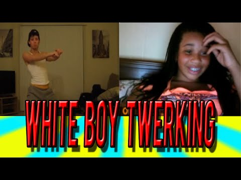 Funny Reactions On Omegle   White boy twerking to birthday cake