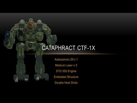 Mechwarrior Online - Cataphract CTF-1X Build and Gameplay