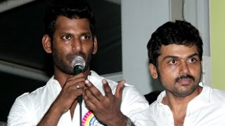 Watch We are not backed by any alien power or political support- Vishal Speech | Nadigar Sangam Election Red Pix tv Kollywood News 03/Oct/2015 online
