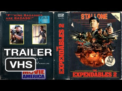 The Expendables 2 Ultimate 80's Vintage Trailer - Sylvester Stallone Movie (VHS BOOTLEG COPY)