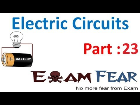 Physics Electric Circuits part 23 (Numericals) CBSE class 12