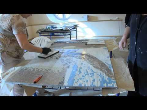 Как создавали мозаичное панно к150-летию Иверского женского монастыря