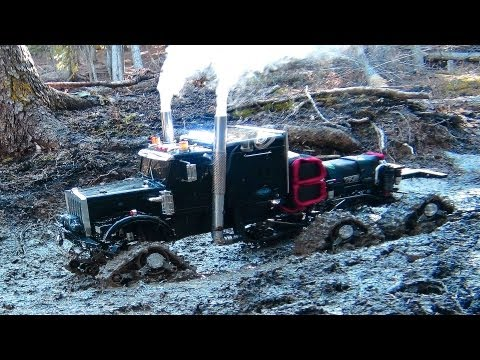 "RC ADVENTURES - Mud, Muddy, MUDDiER! Semi-Truck 6X6 HD OVERKiLL & 4X4 ""BEAST"" Monster on Mucky TRAiL"