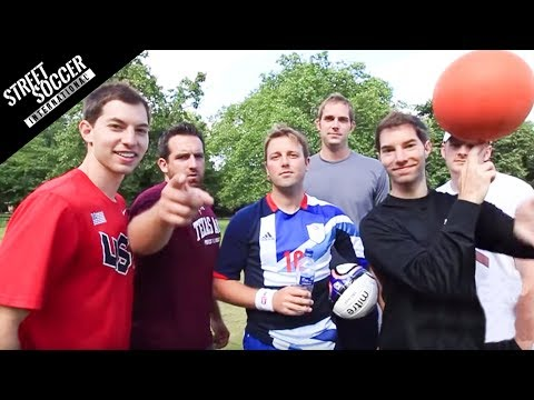 Football Trick shots - Dude Perfect & STRskillSchool