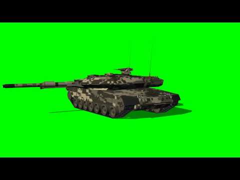 "Tank, Krauss-Maffei Leopard 3A2DK - Main Battle Tank (animated) - ""free Chroma Key Effects"""