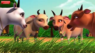 The Tiger and the Cows  Hindi Stories for Kids  Infobells