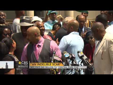 Central Park Five get $40M from NYC for  (Freedom)  6/28/14