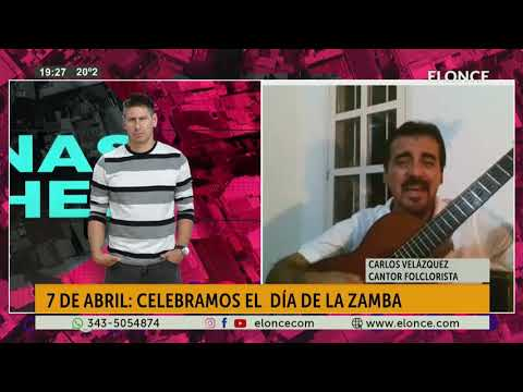 Via Skype Carlos Velazquez celebra el dia de la zamba cantando