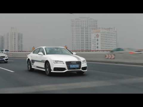 Audi fährt fahrerlos auf Elektronikmesse vor