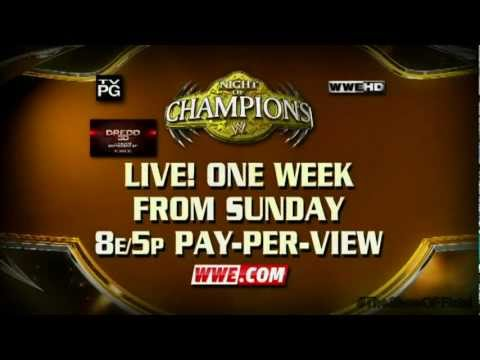 WWE Night Of Champions 2012 Match Card V2