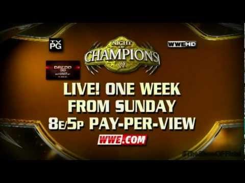 WWE Night Of Champions 2012 Match Card V2