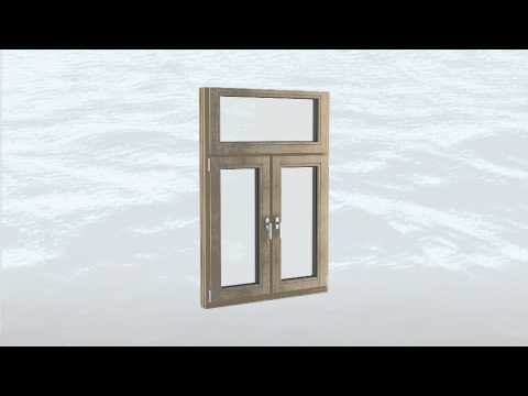 Tilt and Turn Wooden Window, Tilt and Turn Alu-Clad Window